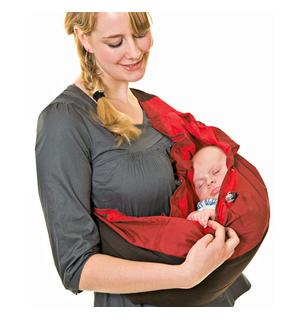Porte-bébé nid choco-rouge